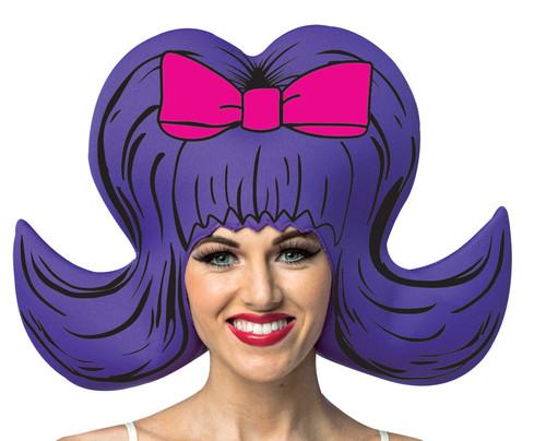 Bouffant Purple Comic Wig