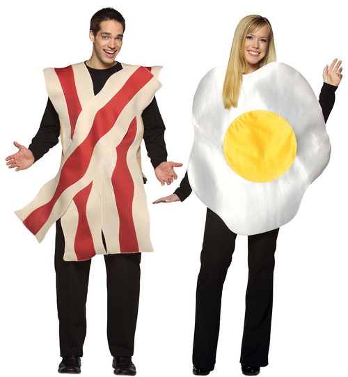 Bacon Egg Couples Costume
