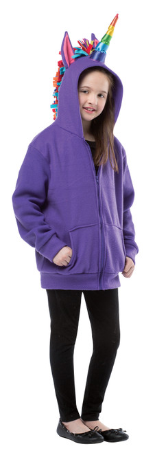 Hoodie Unicorn Purple Ch 7-10