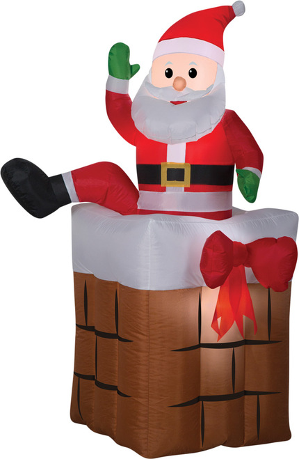 Airblown Santa Climbing Animated