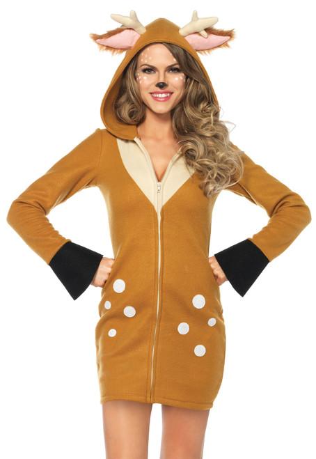 Women's Plus Size Cozy Fawn Costume 3X/4X