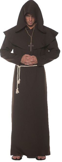 Adult Brown Monk Robe 2XL