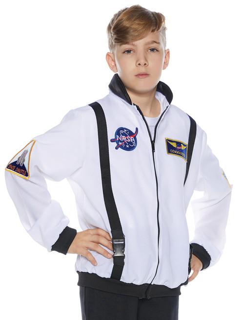 Astro Jacket Child White Lg 10