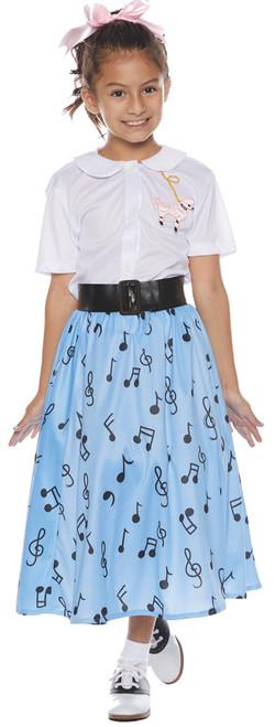 50's Skirt Set Child Small 4-6