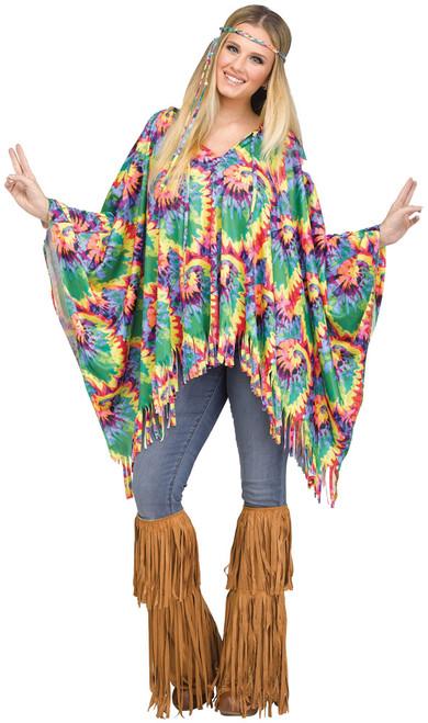 Poncho Tie-dye Hippie