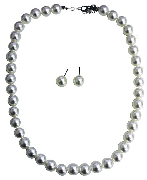 50s Pearl Earring & Necklace S