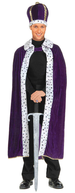 King Robe/crown Set Purple