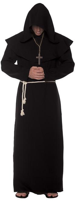 Adult Black Monk Robe 2XL