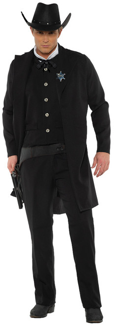 Men's Dark Sheriff Costume 2XL