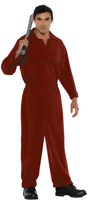 Men's Red Boiler Suit Costume 2XL