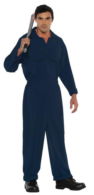 Men's Blue Boiler Suit Costume 2XL