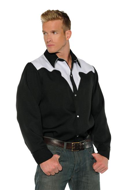Cowboy Shirt Blck/wht Std