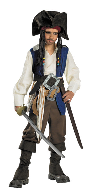 Cptn Jack Sparrow Chd Dlx 4-6