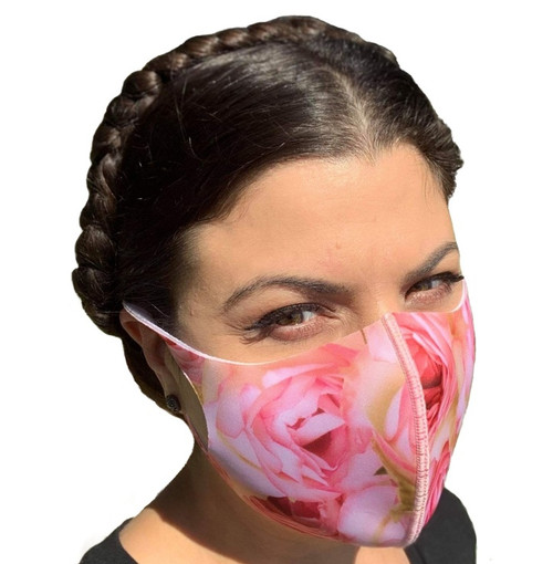 Pink Roses Face Mask