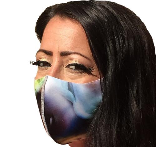Smoke Print Face Mask