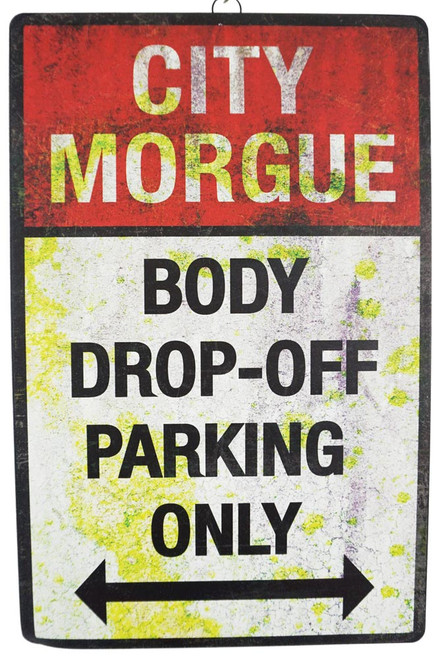 Body Drop Off Parking Sign