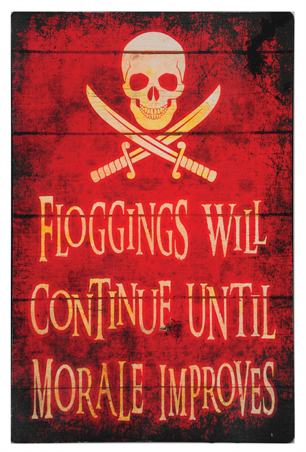 Floggings Will Continue Until