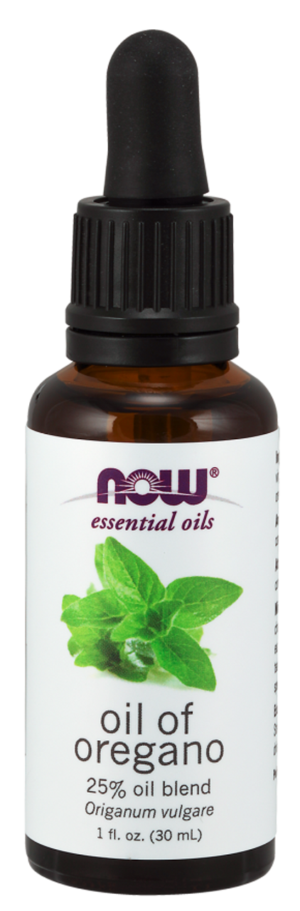 NOW 100% Pure Oil of Oregano (Origanum Vulgare) Blend Essential Oil 1 oz