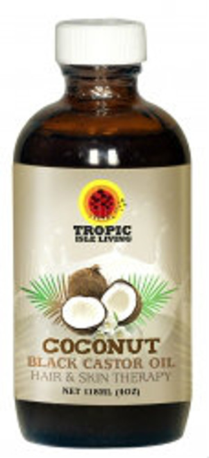 Tropic Isle Living Coconut Jamaican Black Castor Oil 4oz. Looking for wwhere to buy 100% original Tropic Isle Living Coconut Jamaican Black Castor Oil? iShopNaturals.com offers the best price online for Tropic Isle Living Coconut Jamaican Black Castor Oil for hair & skin moisturizing, softening and nourishing. Tropic Isle Living Coconut Jamaican Black Castor Oil also limits the amounts of microbes on the skin, cleaning up various conditions like psoriasis, dermatitis, eczema and many other skin infections, acne, wrinkles, lice and rashes.