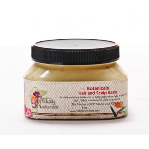 Alikay Naturals Botanicals Hair and Scalp Balm 8oz. Shop here for the Alikay Naturals Botanicals Hair and Scalp Balm 8oz or at ishopnaturals.com or at African Naturals St. Louis, MO 63109 at everyday low prices. Alikay Naturals Botanicals Hair and Scalp Balm will NOT clog pore! This Product is 100% Natural A nourishing light blend of vitamins, botanicals, herbs and essential oils provide the relief that your hair and scalp needs. Relieve your dry itchy scalp and dandruff by keeping your scalp moisturized. Your scalp will feel hydrated and moisturized with Babassu Oil, Peppermint Oil and Nettle. A soothing scalp treatment is now right at your fingertips. Lightly scented with warming Vanilla. This is Where you can buy, find, product, information, ratings, reviews, benefits of Alikay Naturals Botanicals Hair and Scalp Balm 8oz.