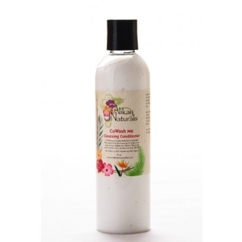 Alikay Naturals Cowash Me Cleansing Conditioner 8oz. Are you looking for where to buy Alikay Naturals Cowash Me Cleansing Conditioner? iShopNaturals.com offers the best price for Alikay Naturals Cowash Me Cleansing Conditioner, it is a two in one product and a great alternative to a 2-step shampoo and conditioner regimen. Alikay Naturals Cowash Me Cleansing Conditioner is sulfate free formula, gentle enough for daily cleansing without stripping hair of natural oils. Jojoba oil and Peppermint oil blend leaves hair soft, moisturized, hydrated and your scalp feeling clean. Great for all hair types. The fresh scent of peach with hints of berries is invigorating. Hair will feel and smell GREAT! Shop here for the Alikay Naturals Cowash Me Cleansing Conditioner 8oz or at ishopnaturals.com or at African Naturals St. Louis, MO 63109 at everyday low prices. This is Where you can buy, find, product, information, ratings, reviews, benefits of Alikay Naturals Cowash Me Cleansing Conditioner 8oz.