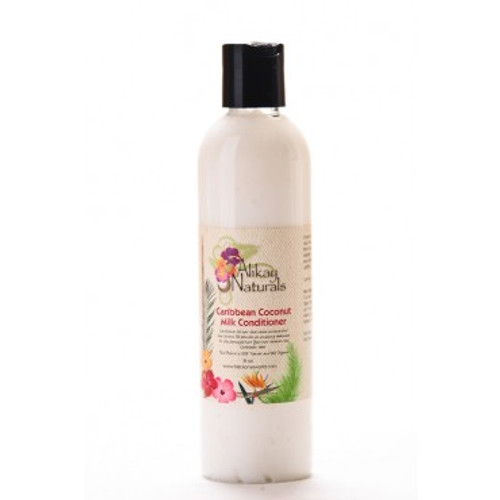 Alikay Naturals Caribbean Coconut Milk Conditioner 8oz. Shop here for the Alikay Naturals Caribbean Coconut Milk Conditioner 8oz or at ishopnaturals.com or at African Naturals St. Louis, MO 63109 at everyday low prices. iShopNaturals.com offers the best price for Alikay Naturals Caribbean Coconut Milk Conditioner. It is a moisture enriched conditioner perfect for dry, damaged and chemically treated hair. Alikay Naturals Caribbean Coconut Milk Conditioner is a special blend of natural ingredients provide amazing slip, which makes detangling easier. Coconut Oil increases hair shine and strength by nourishing dry damaged hair. Its natural fatty acids penetrate your hair shaft to replenish moisture from root to tip. Coconut milk slows down hair loss and softens your hair, which means longer healthier hair. The scent of fresh coconuts is uplifting. Your hair deserves this Caribbean treat. Shop here for the Alikay Naturals Caribbean Coconut Milk Conditioner 8oz or at ishopnaturals.com or at African Naturals St. Louis, MO 63109 at everyday low prices. This is Where you can buy, find, product, information, ratings, reviews, benefits of Alikay Naturals Caribbean Coconut Milk Conditioner 8oz.
