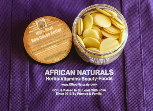 100% AUTHENTIC NATURAL RAW COCOA BUTTER WAFERS (PREMIUM) BENEFITS FOR HEALTHY SKIN AND HAIR.