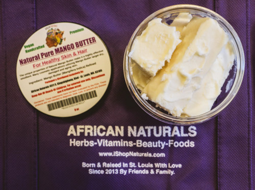 PURE AUTHENTIC NATURAL MANGO BUTTER (PREMIUM) BENEFITS FOR HEALTHY SKIN AND HAIR ELASTICITY.