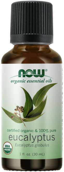 NOW Eucalyptus Globulus Essential Oil, Organic Certified Organic & 100% Pure