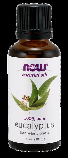 NOW 100% Pure Eucalyptus (Eucalyptus Globulus) Essential Oil - BENEFITS: Revitalizing, Invigorating & Clarifying.