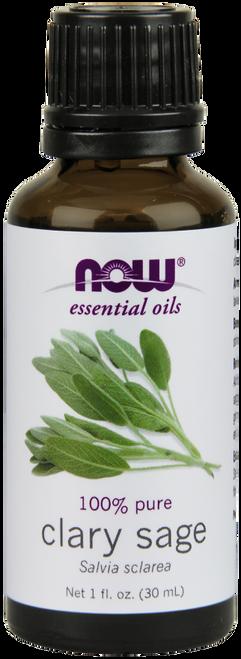NOW 100% Pure Clary Sage (Salvia Sclarea) Essential Oil - 1 oz. Benefits: Focusing, Stimulating & Balancing.