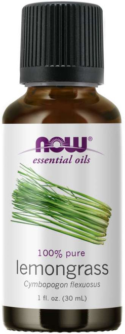 NOW 100% Pure Lemongrass (Cymbopogon Flexuosus) Essential Oil - 1 oz. Benefits: Purifying, Stimulating and Cleansing.