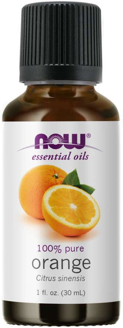 NOW 100% Pure Sweet Orange (Citrus Sinensis) Essential Oil - BENEFITS: Refreshing, Uplifting & Invigorating