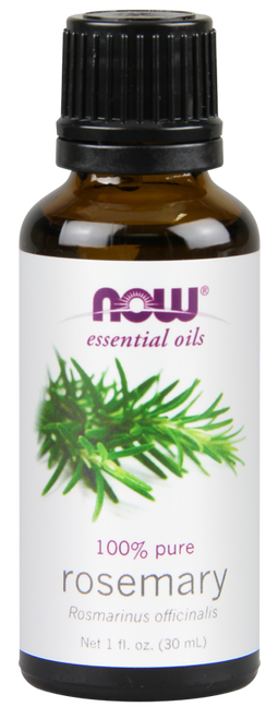 NOW 100% Pure Rosemary (Rosmarinus Officinalis) Essential Oil - 1 oz. BENEFITS: Purifying and Uplifting