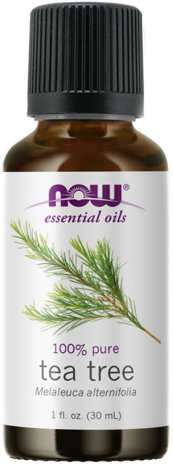 NOW 100% PURE TEA TREE (MELALEUCA ALTERNIFOLIA) ESSENTIAL OIL - 1 OZ. BENEFITS: CLEANSING, PURIFYING AND RENEWING. (7625)