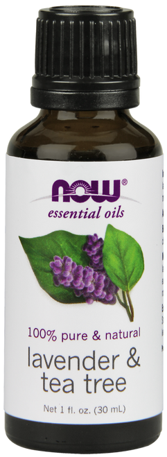 NOW PURE & NATURA Lavender & Tea Tree Oil - Benefits: Renewing, Cleansing & Stimulating.