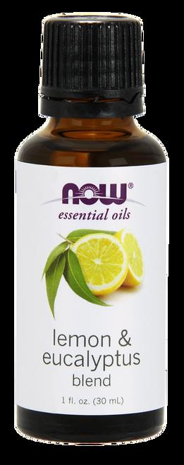 NOW 100% Pure & Natural Lemon Eucalyptus Oil - Benefits:  Clarifying, Cleansing & Invigorating.