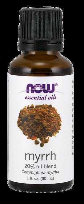 NOW 100% Pure & Natural Myrrh Oil 20% Essential Oil Blend (Commiphora Myrrha) - Benefits: Focusing, Grounding & Meditative.