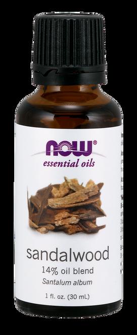 NOW Sandalwood 14% Oil Blend - 1 oz. (7668) NOW 100% Pure & Natural Sandalwood 14% Oil Blend (Santalum Album) Essential Oil - Benefits: Grounding, Focusing & Balancing.
