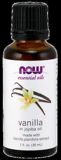 NOW 100% Pure Vanilla Oil - 1 oz. (7596). NOW 100% Pure Vanilla Essential (Vanilla Planifolia) Concentrate in Jojoba Oil - Benefits: Comforting, Relaxing & Nurturing.