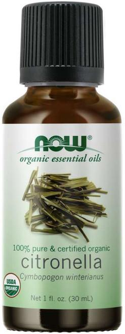 NOW Citronella Oil, Organic 100% Pure & Certified Organic