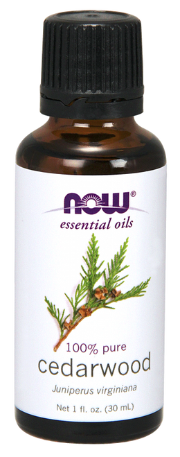 NOW 100% Pure Cedarwood (Juniperus Virginiana) Essential Oil - 1 oz. BENEFITS: Stress Relief, Strengthening & Empowering.