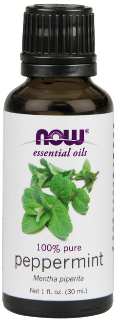 NOW Foods 100% PURE PEPPERMINT (MENTHA PIPERITA) ESSENTIAL OIL - 1 OZ.