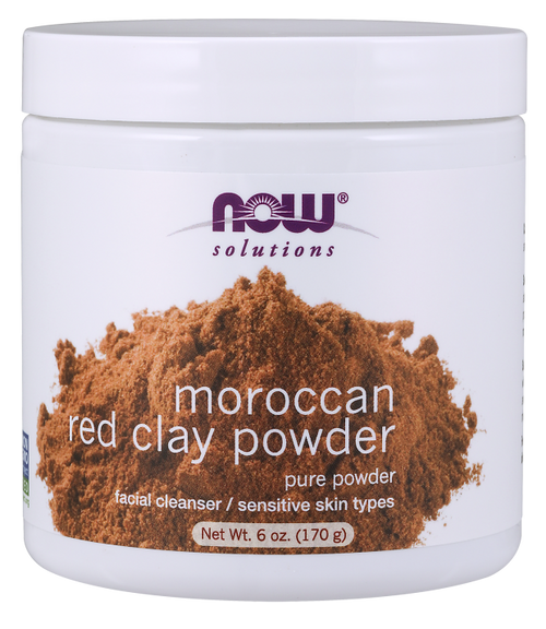 Red Clay Powder Moroccan. Ingredients: Montmorillonite (a natural mineral silicate).