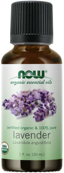 NOW 100% Pure Lavender Essential Oil, Certified Organic - 1oz.