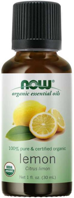 NOW 100% Pure Lemon Essential Oil, Certified Organic - 1 oz.