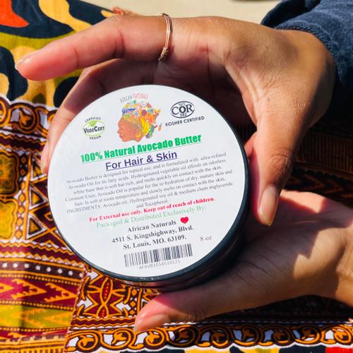 100% Natural Avocado Body Butter For Hair & Skin 8oz