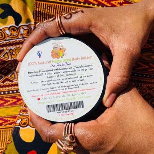 Natural Hemp Seed Body Butter For Hair & Skin.