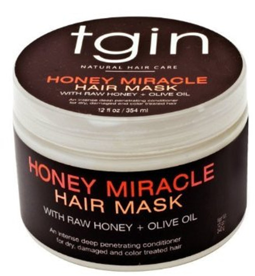 THANK GOD IT'S NATURAL (TGIN) HONEY MIRACLE DEEP CONDITIONER FOR NATURAL HAIR - 12OZ