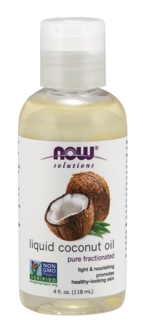 NOW PURE FRACTIONATED Liquid Coconut Oil - BENEFITS: Light & Nourishing Promotes Healthy-Looking Skin And Hair.